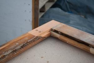 Scarf joint repair.